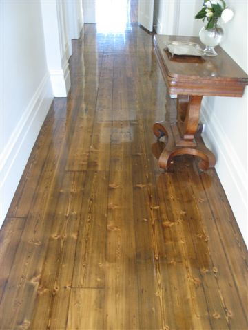 Stained baltic pine