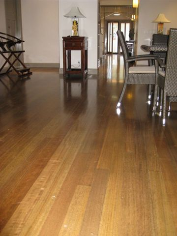 Tasmanian Oak direct stain water based with a satin finish