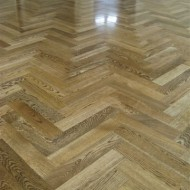 European Oak, stained with water based satin finish.