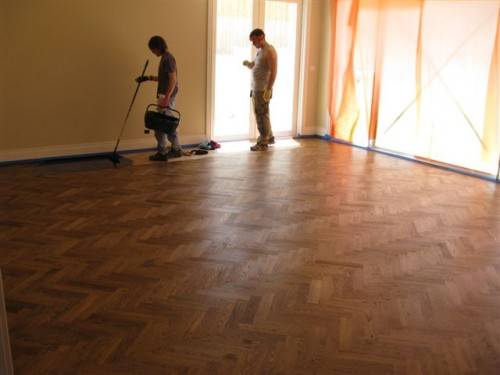 European Oak, being stained.