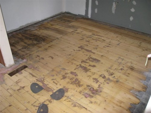 Old and relaid Baltic Pine - first cut