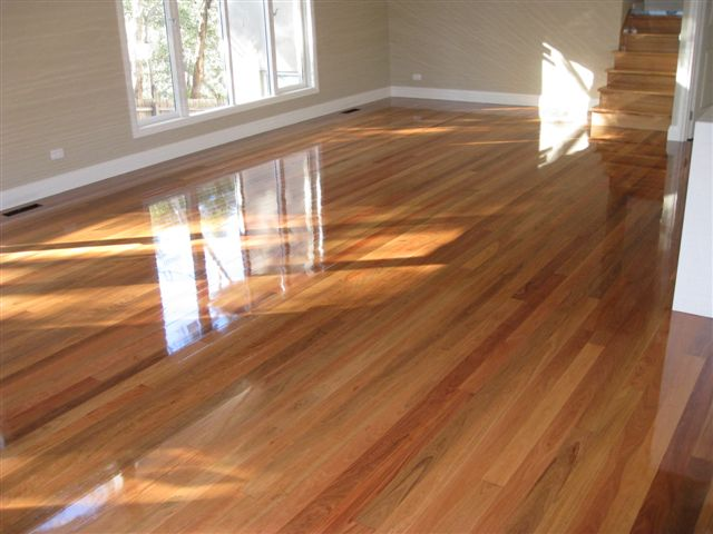 Ironbark with gloss finish.