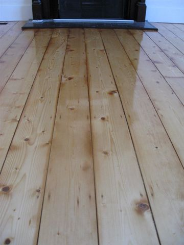 Old baltic pine after sanding