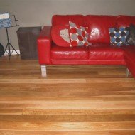 Spotted Gum with water based polyurethane in a matt finish