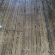 Stained baltic pine before coating
